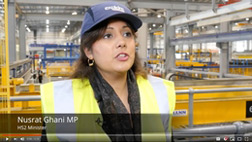Nusrat Ghani MP talking about HS2