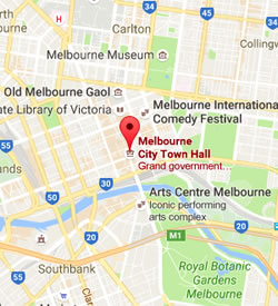 Map of Melbourne Town Hall