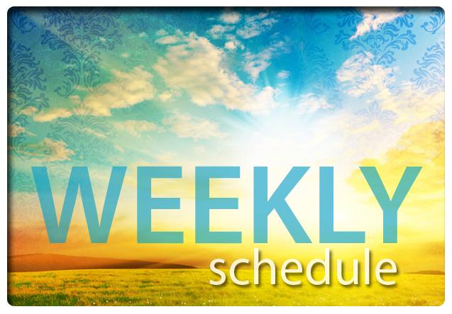 Weekly Schedule Bright Sunset