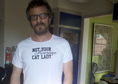 Maron--This shirt is from my fan Katy at Cat Fancy Magazine. It's not too girly is it ?