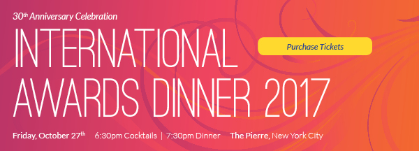 Learn more about our upcoming International Awards Dinner