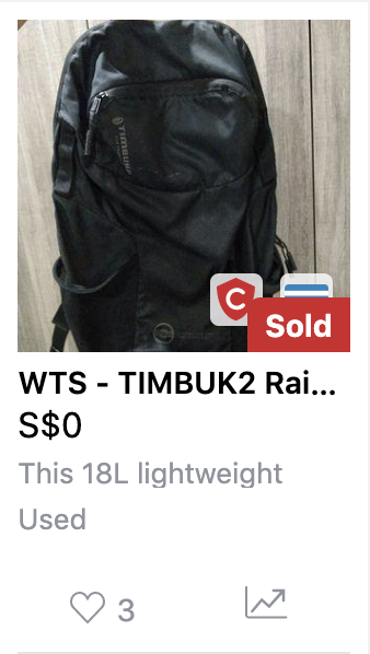 My carousell listing