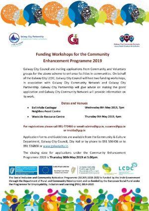 Funding Workshops for CommunityEnhancement Programme 2019 Flyer
