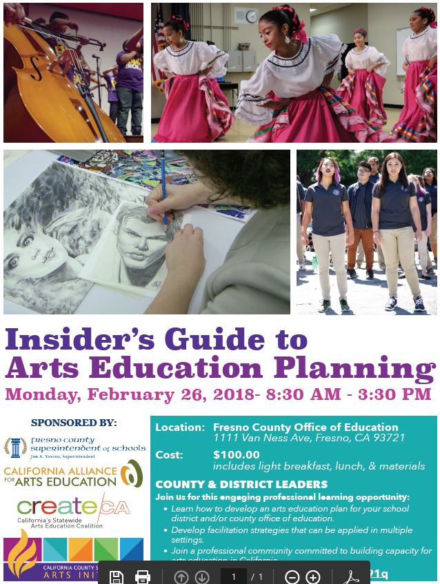 Insider's Guide to Arts Education Planning @ Fresno County Office of Education  | Fresno | California | United States