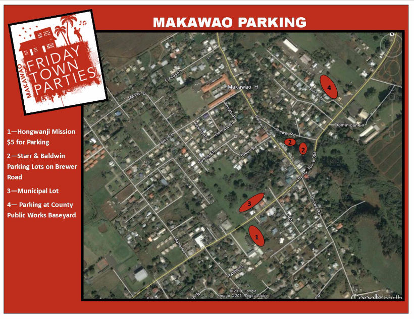 Makawao Parking