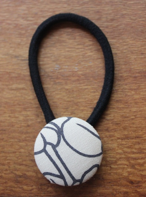 Covered Button Hair Tie