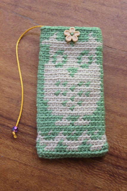 Just Living Aloha by Emiko Sato Eyeglass Cases - Owl Green Sage