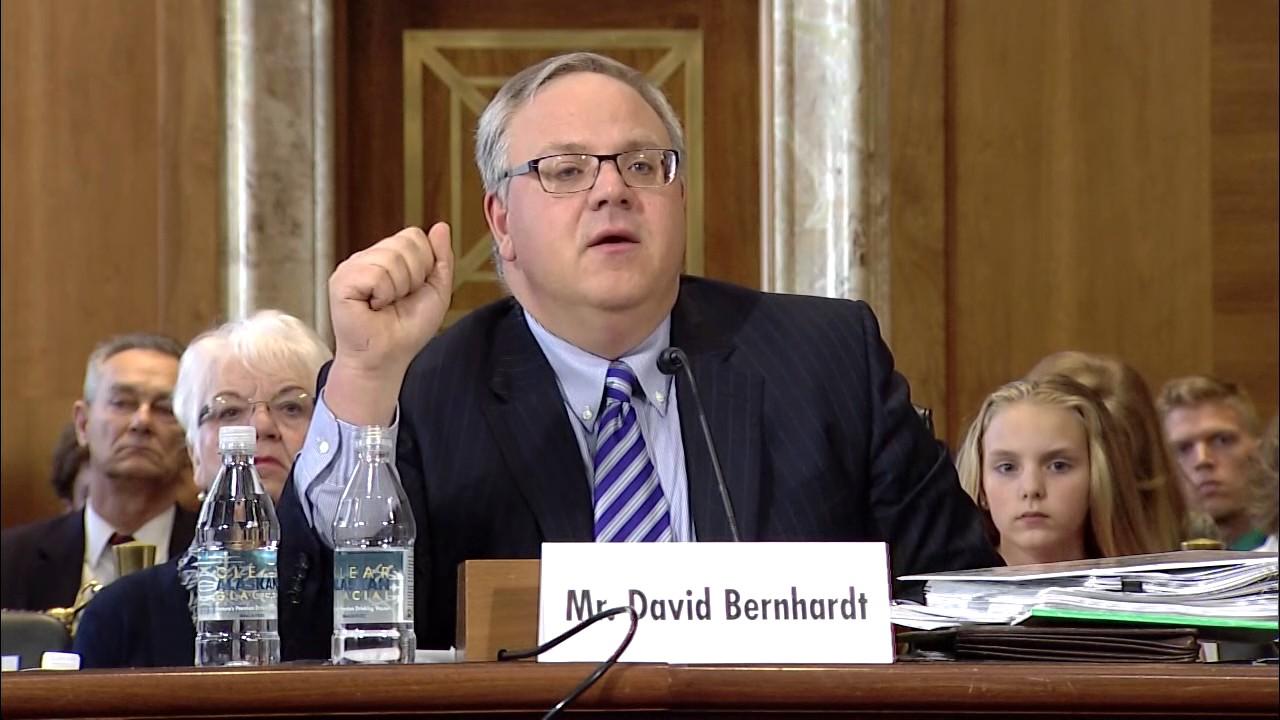 Deputy Secretary DAvid Bernhardt