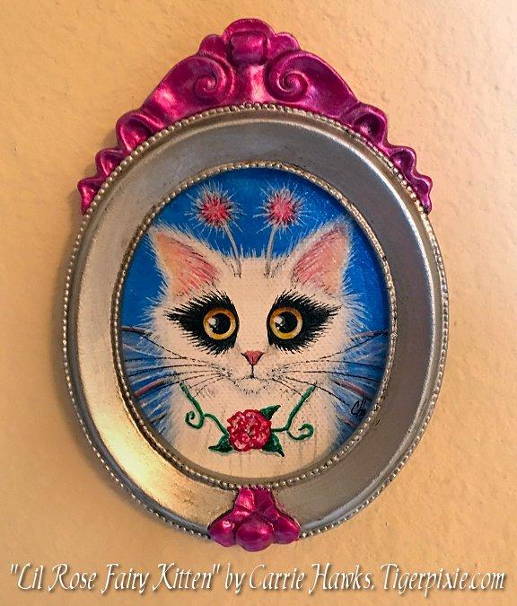 Lil Rose Fairy Kitten by Carrie hawks