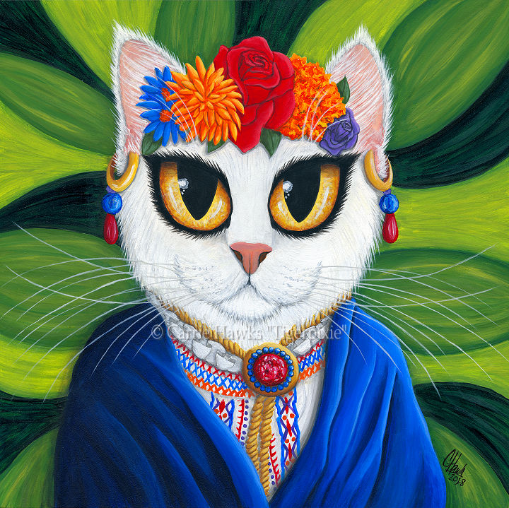 Senorita Cat 10x10 by Carrie Hawks, Tigerpixie.com