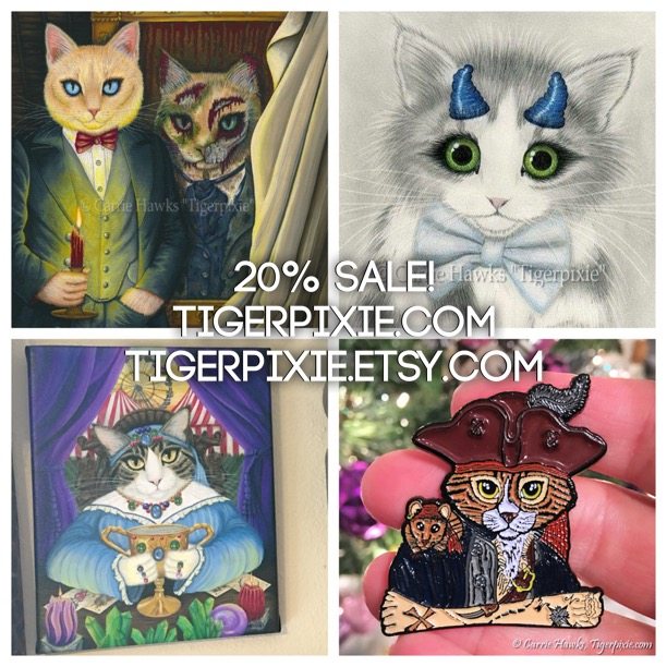 Sale Tigerpixie.com and Tigerpixie.Etsy.com