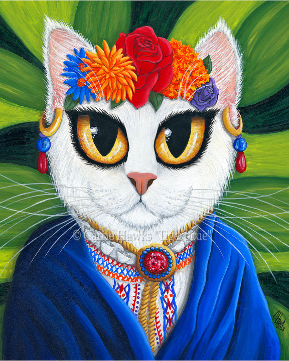 Senorita Cat by Carrie Hawks, Tigerpixie.com