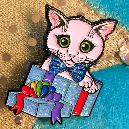 Gift Kitten Boy Enamel Pin