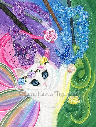 """Day of the Dead Cat Eye"" Original Miniature Painting"