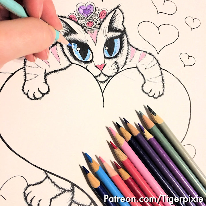 Tigerpixie Patreon Perks Coloring Pages!