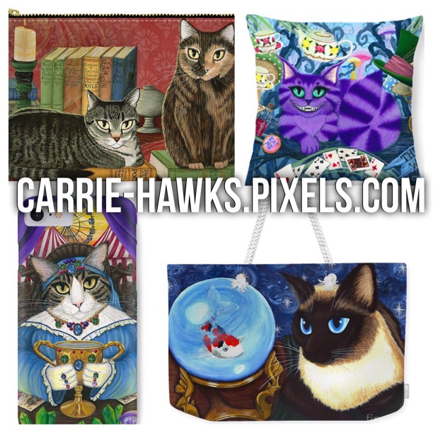 Carrie Hawks Fantasy Cats at Fine Art America Pixels
