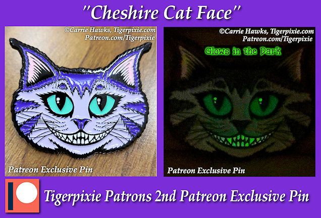 Cheshore Cat Face Patreon Exclusive Pin 2