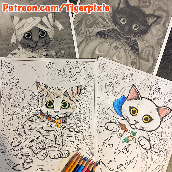 October Halloween Patreon Coloring Pages