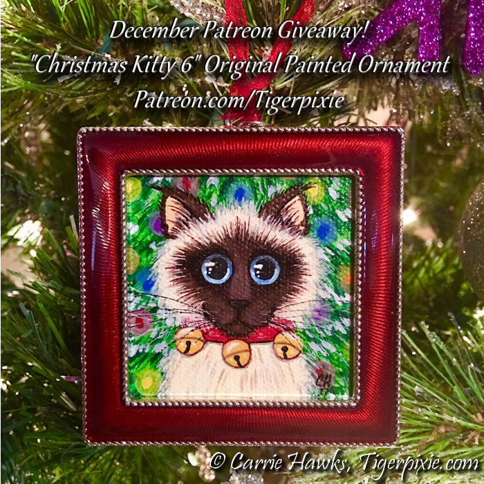 Christmas Kitty 6 Original Dec Patreon Giveaway Patreon.com/Tigerpixie