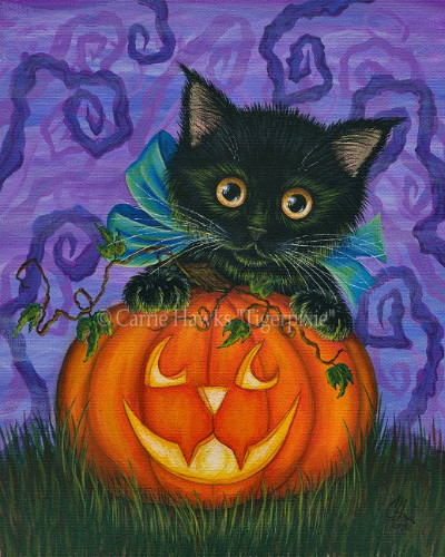 New Art! Halloween Black Kitty