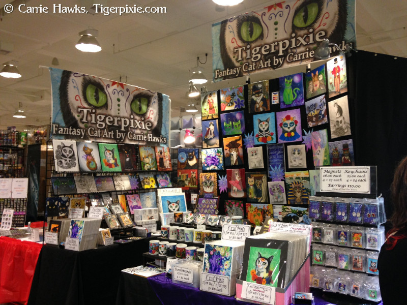 Tigerpixie Fantasy Cat Art by Carrie Hawks DragonCon Dealers Booth # D118