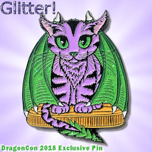 Purple Dragon Kitten DragonCon Exclusive Enamel Pin Tigerpixie.com