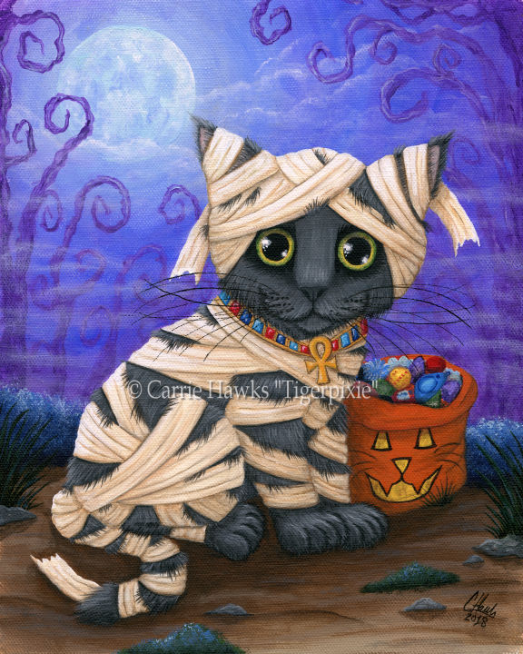 Lil Mummy Kitten by Carrie Hawks Tigerpixie.com