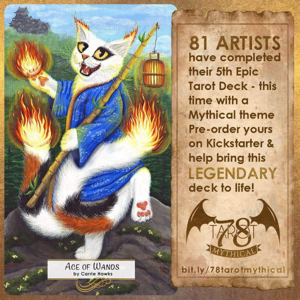 Bakenko Nekomata, Ace of Wands, Carrie Hawks78 Tarot Mythical
