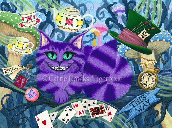 """Cheshire Cat"" Original Painting"