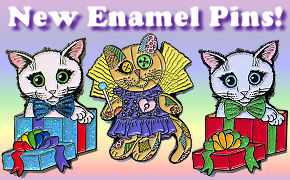 Tigerpixie.com Fantasy Cat Enamel Pins