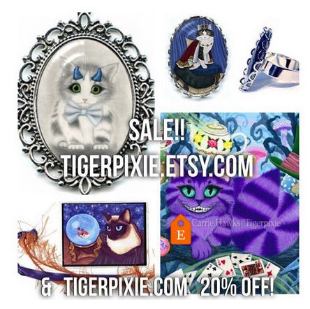20% Off Sale Tigerpixie.com Tigerpixie.Etsy.com