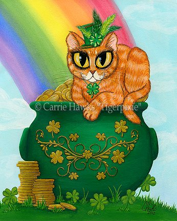 St. Patrick's Day Kitty