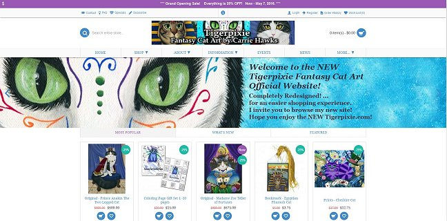 The New Tigerpixie.com Home Page