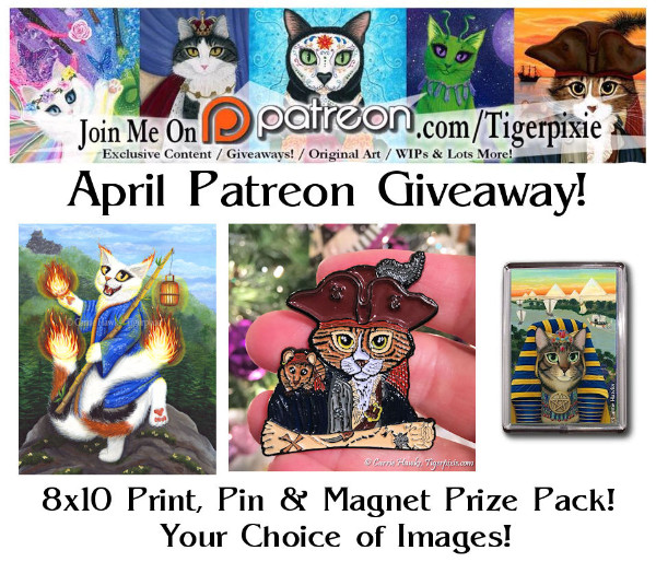 Patroen.com/Tigerpixie April Patroen Giveaway