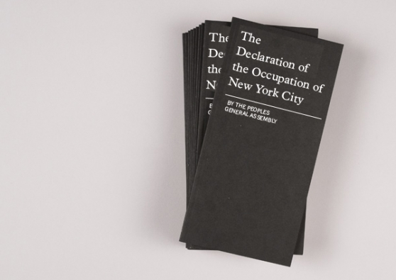 Please Help the Sparrow Project Print the First Declaration of the #OccupyWallStreet Movement