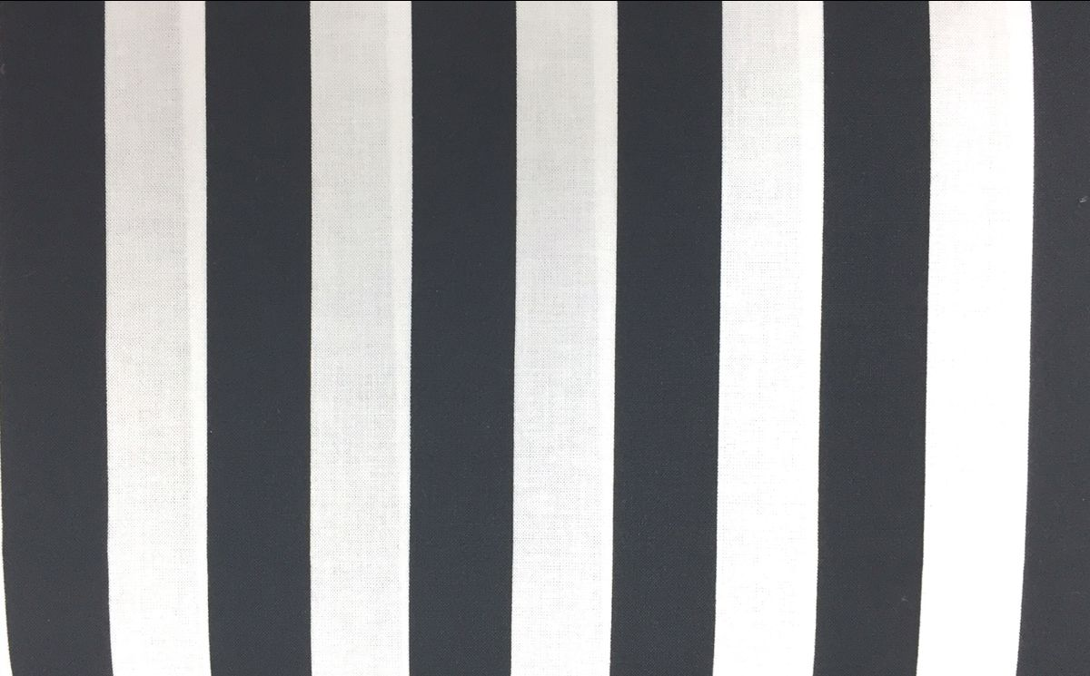 "Black and White 1"" Stripe"