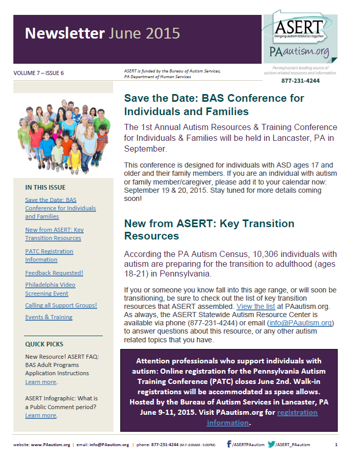 Image of the cover of the June newsletter