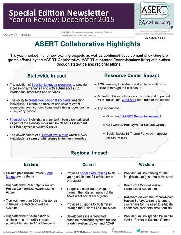 A thumbnail image of the ASERT December Newsletter