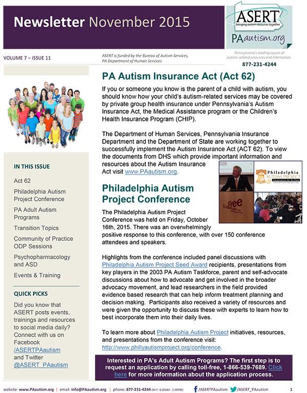 A thumbnail image of the ASERT November Newsletter