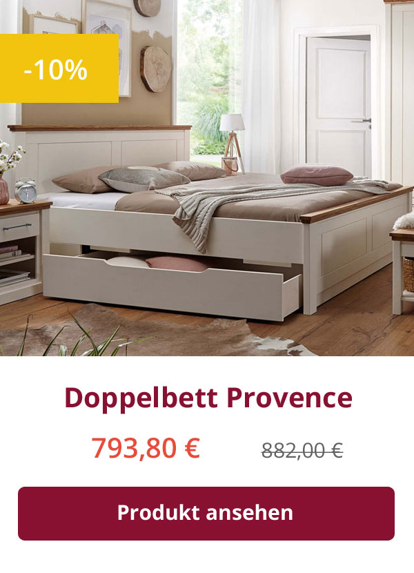 Doppelbett mit Bettkasten Provence