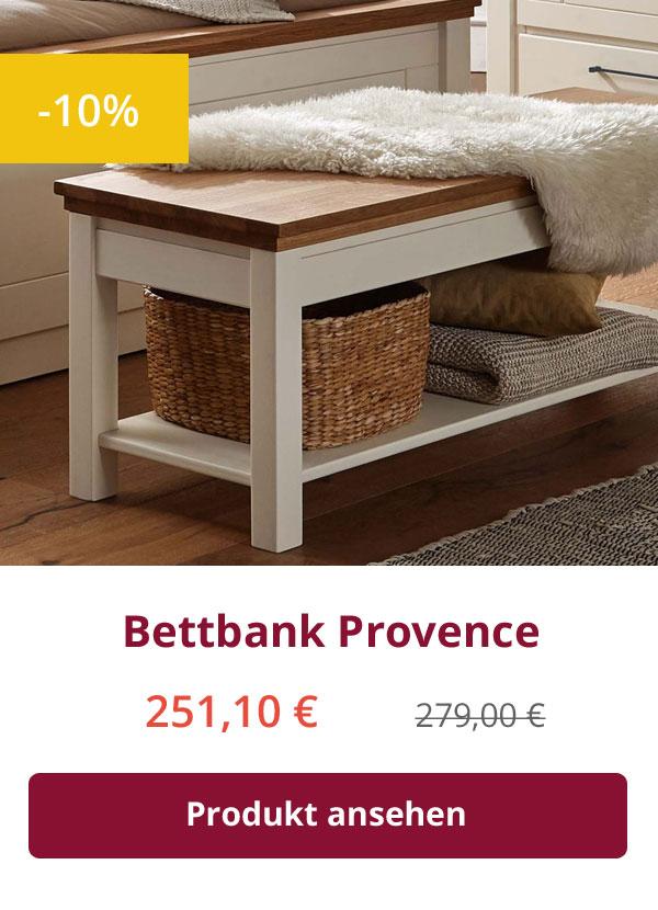 Sitzbank Provence cremeweiß