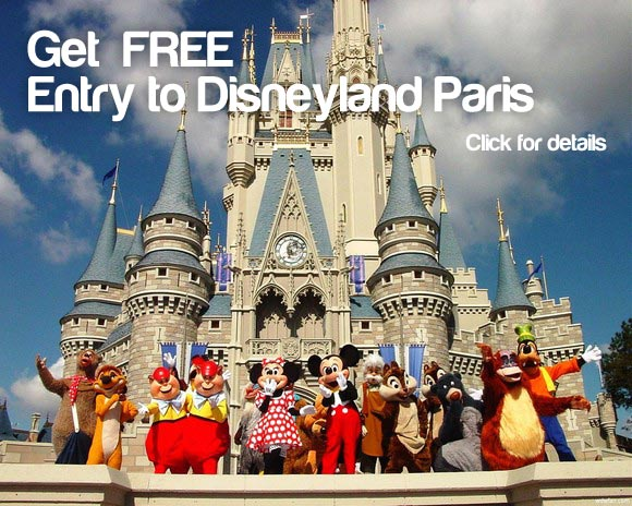 Free entry to Disneyland Paris with P&O Ferries - ticket for Disneyland Paris