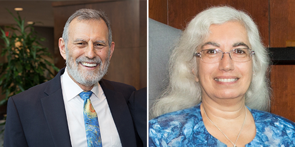 Peter Culicover (L) and Tina Henkin (R)