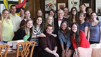 History-program Students with President E. Gordon Gee