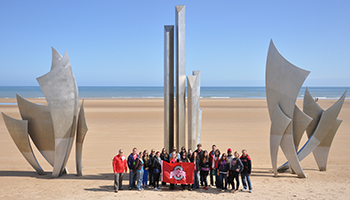 History Study Tour students at Normandy