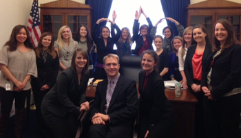 Speech and Hearing Science Graudate Students on Capitol Hill