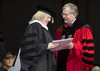 Vikki Haywood, President E. Gordon Gee