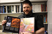 Scott Gaudi with childhood book
