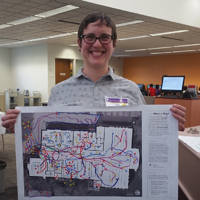 Arin Blair with her map