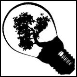 Lightbulb with tree inside